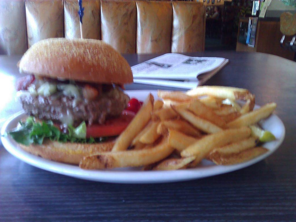 Blurry hamburger