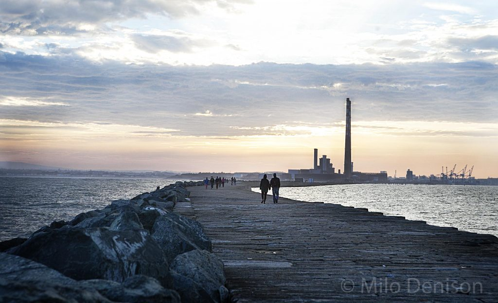 Walking at Poolbeg
