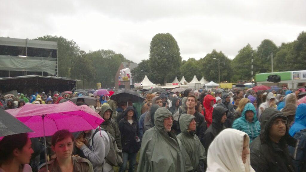 raining at the main square festival