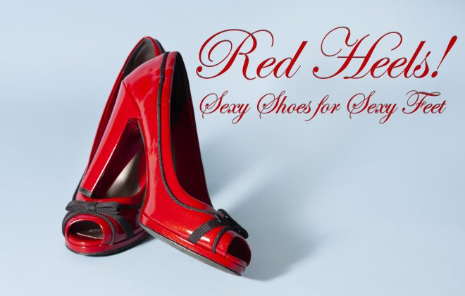 fake ad for red heels