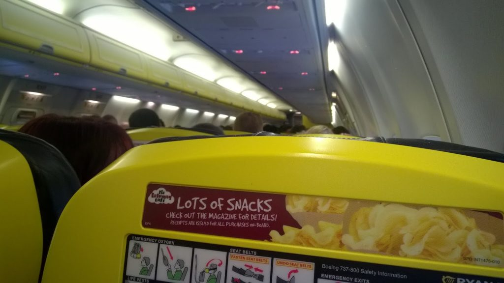 Seats on Ryan Air