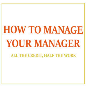 book cover for manage your manager